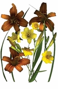 FINAL SALE! Brown Lilies & Coreopsis Plus Size T-Shirt 4xl 5xl