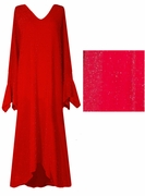 FINAL SALE!!!!! Dazzling Red Glitter Plus Size & Supersize Dresses 0X-1X