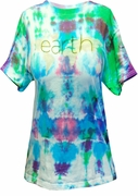FINAL SALE! Earth Dont Turn Your Back On It 2-Sided Tie Dye Plus Size T-Shirt L XL 2XL