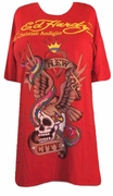 FINAL SALE! Just Reduced! Ed Hardy Red New York City Plus Size T-Shirts by Christian Audigier  3x