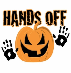 FINAL SALE! Hands Off Pumpkin Halloween Plus Size & Supersize T-Shirts S M L XL 2x 3x 4x 5x 6x 7x 8x  (Lights Only)