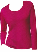 FINAL SALE! Just Reduced! Hot Hot Hot Pink Hanes Long Sleeve Plus Size Plush Pink Long Sleeve T-Shirts 2x XXL 20-22