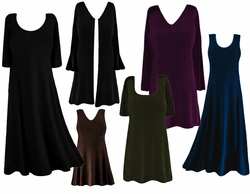 FINAL SALE! Plus Size Solid Slinky Dresses Shirts Tops & Jackets! 0x 1x 2x 3x 4x 5x 6x 7x 8x 9x Black Green Purple Blue FINAL SALE!!