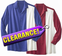 FINAL SALE! Plus Size Tall Long Sleeve Uni Rayon Bowling Shirt 4x Maroon