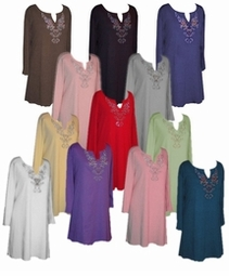 SALE! Rhinestone Plus Size & Supersize Extra Long Shirts Lg 1x2x3x5x