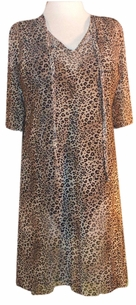 FINAL SALE! s6058 Sheer Leopard Swimsuit Cover-Ups or Over-Blouse Plus Size & Supersize 1x