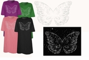 FINAL SALE! Silver Butterfly Plus Size & Supersize T-Shirts 4x