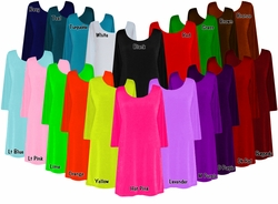 SALE!!!Solid Color Slinky Plus Size & Supersize Customizable A-Line Shirts XL 0x 1x 2x 3x 4x 5x 6x 7x