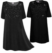 SALE! Starry Nights! Rhinestone Spray Plus Size & Supersize T-Shirts  Many Colors! XL