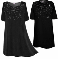SOLD OUT! SALE! Starry Nights! Rhinestone Spray Plus Size & Supersize T-Shirts  Many Colors! XL