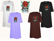 FINAL SALE! Tattoo Love Rose Plus Size & Supersize T-Shirts 6x