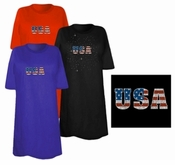Final Sale! USA Flag Logo Distressed Look Plus Size & Supersize T-Shirts
