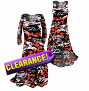 SOLD OUT!!! Lightweight Red White & Black Slinky Plus Size & Supersize Dresses