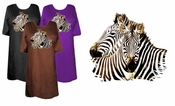 SOLD OUT! SALE! Zebra Nuzzling! Two Zebras Snuggling Plus Size & Supersize T-Shirts 3xl Lavender