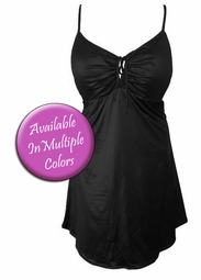 Gorgeous Spandex Plus Size & Supersize Tie Front Two-Piece Babydoll Swimdresses 0x 1x 2x 3x 4x 5x 6x 7x 8x Seven Colors Available!