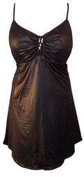 Gorgeous Onyx Black Plus-Size & Supersize 2 Piece Babydoll Tie Swimdresses 0x 1x 2x 3x 4x 5x 6x 7x 8x