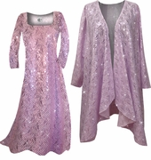SALE! Gorgeous Sparkly Rose Pink Sequins Plus Size & Supersize Princess Cut or A-line Dress 2x