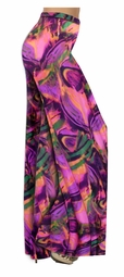 Customize Hot Pink, Orange and Purple Wild Print Slinky  Special Order Plus Size & Supersize Pants, Capri's, Palazzos or Skirts! Lg to 9x