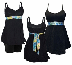 SALE! Hot! Plus Size Swim Tank with Shelf Bra & Tie! Optional Plus Size Swim Shorts! 0x to 8x