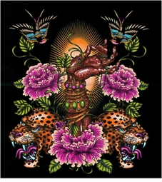 Hot! Tattoo Prints! Hand Birds Tigers Flowers Plus Size & Supersize T-Shirts S M L XL 1xl 2xl 3xl 4x 5x 6x 7x 8x