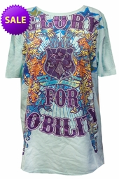 LAST ONE! FINAL SALE! Just Reduced! Vintage Couture Nobility Revolution Gold Foil All Over Print Plus Size T-Shirts 3XL