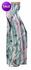 CLEARANCE!  Lavender Floral Watercolor Print Slinky Plus Size & Supersize Pants, Capri's, Palazzos or Skirts! 2x 3x