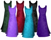 SALE! MANY COLORS! Crush Velvet Princess Cut Tank Plus Size Supersize Dresses 2x 3x 4x 5x 6x 8x