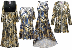 NEW! Metallic Zebra Slinky Print - Plus Size Slinky Dresses Shirts Jackets Pants Palazzo�s & Skirts - Sizes Lg to 9x