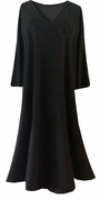 SALE! Plus Size Black Slinky Dress 3/4 Sleeve V Neck Size Supersize 6x