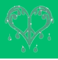 SALE! Sparkly Rhinestuds Pink & Silver Dripping Peace Heart on Shamrock Green Round Neck Petite Plus Size T-Shirt 1x 2x 3x