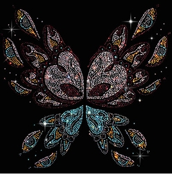Abstract Butterfly Wings Rhinestuds Plus Size & Supersize T-Shirts S M L XL 2x 3x 4x 5x 6x 7x 8x (All Colors)
