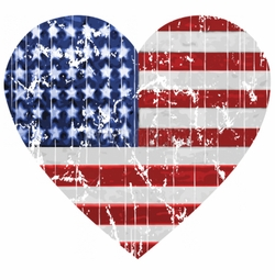 NEW! American Flag Heart Plus Size & Supersize T-Shirts S M L XL 2x 3x 4x 5x 6x 7x 8x 9x (All Colors)
