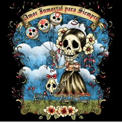 Amor Immportal Para Siempre Day Of The Dead Plus Size & Supersize T-Shirts S M L XL 2x 3x 4x 5x 6x 7x 8x (All Colors)