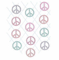 NEW! Argyle Peace Signs Plus Size & Supersize T-Shirts S M L XL 2x 3x 4x 5x 6x 7x 8x 9x (All Colors)