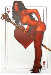 NEW! Bad Girl Queen Of Hearts Card  Plus Size & Supersize T-Shirts S M L XL 2x 3x 4x 5x 6x 7x 8x