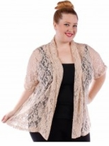 FINAL SALE! Last One!  Beige or Black Knit Cardigan Coverup Top Plus Size 5x