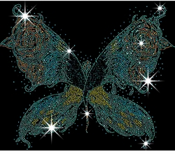Big Butterfly Wings Sparkly Rhinestuds Plus Size & Supersize T-Shirts S M L XL 2x 3x 4x 5x 6x 7x 8x (All Colors)