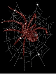 Red Widow Spider In Web Sparkly Rhinestuds Plus Size & Supersize T-Shirts S M L XL 2x 3x 4x 5x 6x 7x 8x 9x (All Colors)