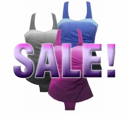 SALE! Charcoal Gray, Blue or Fuschia Ombre One Piece Swimsuit - Colorful Sarong Style - 32W/4X - 34W/5X