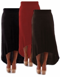NEW! Black, Brown, or Red Knit Cascade Plus Size Maxi Skirt 4x 5x 6x