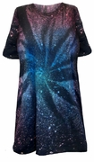SALE! Galaxy Space Black Burst Tie Dye Plus Size Short Sleeve or Long Sleeve T-Shirt 4x 5x