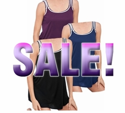 SALE! Dark Purple 2 Piece Plus Size Swimdress With Piping 4x/30W