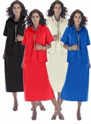 SALE! Black, Ivory, Red, Plum or Blue Plus Size Peachskin Shift Jacket Dress 32W 34W