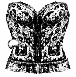 NEW! Black Ornate Corset Plus Size & Supersize T-Shirts S M L XL 2x 3x 4x 5x 6x 7x 8x (All Colors)