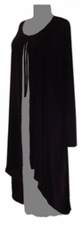HOT! Black Velvet or Slinky Cascading Jacket - Plus Size & Supersize 0x-9x