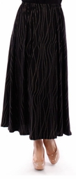 NEW! Black With Silver Pin Dot Plus Size Maxi Skirt 5x