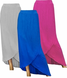 NEW! Blue, Fuschia, or Gray Long Plus Size Tulip Skirt 4X-30/32
