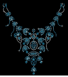NEW! Blue Gems Neckline Sparkly Rhinestuds Plus Size & Supersize T-Shirts S M L XL 2x 3x 4x 5x 6x 7x 8x 9x (All Colors)