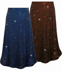 Blue or Red/Orange Glitter Dots Slinky Print Special Order Customizable Plus Size & Supersize Pants, Capri's, Palazzos or Skirts! Lg to 9x