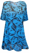 SALE! Blue With Black Streaks Supersize Extra Long T-Shirts 5x